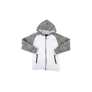 marled fleece raglan hoodie (8-20)