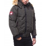 canada weather zip up faux fur hood jacket