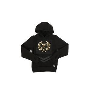 embossed metallic fleece hoodie (8-20)