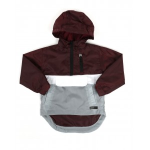 pullover color block rain shell anorak jacket (2t-4t)