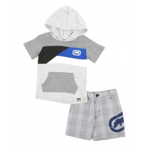 2pc hooded tee & shorts set (2t-4t)