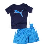 poly performance s/s tee + short set (2t-4t)