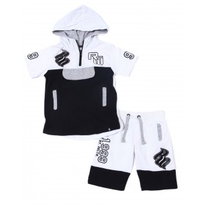 2pc french terry hoodie/short set (2t-4t)