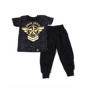 s/s crew neck jersey & knit jogger pant (2t-4t)