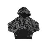 linear print hoodie (7-16)