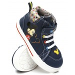 mickey mouse high top canvas sneakers (5-12)