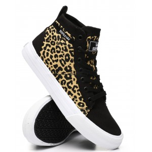 stacks leopard print mid sneakers