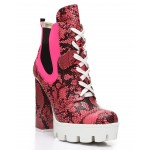finch lace-up chunky platform boots