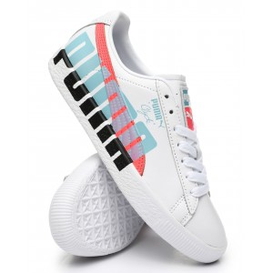 clyde logo sneakers