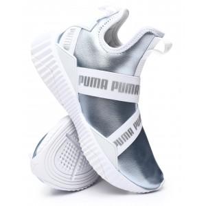 defy mid metallic sneakers