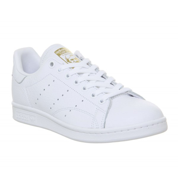 adidas Stan Smith Trainers White Real Lilac Raw Gold F