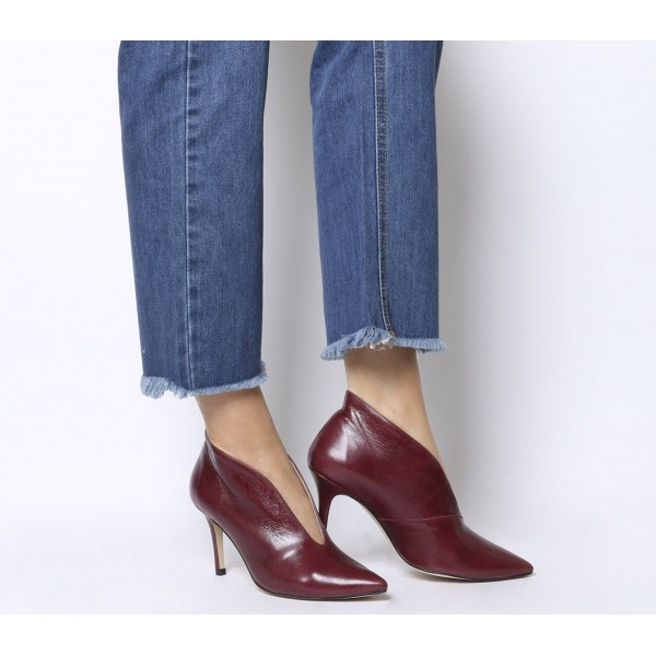 Office Mojo Shoe Boots Burgundy Groucho