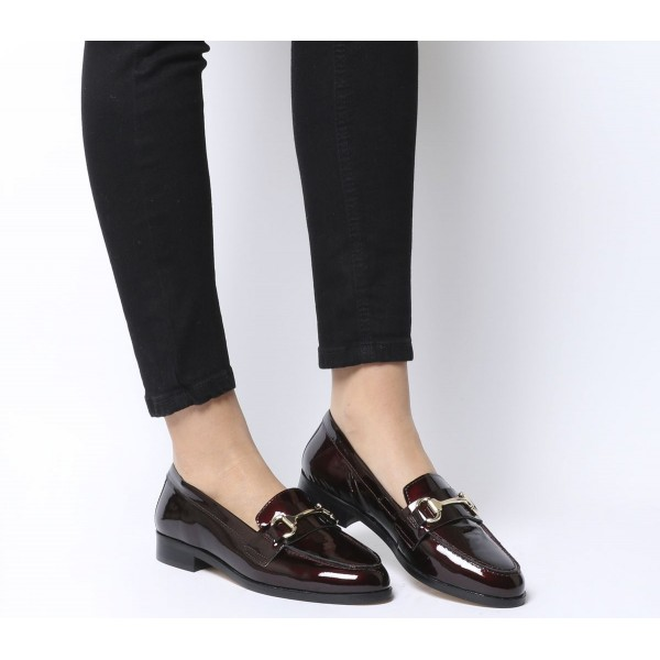 Office Fluster Loafers Burgundy Patent