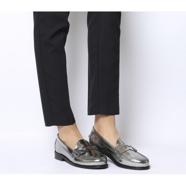 Office Fletcher Loafers Pewter Patent Leather