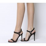 Office Hot Cake Strappy Sandals Black