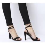 Office Harlan Two Part Block Sandal Heels Black