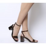 Office Millions Square Toe Two Part Heels Tortoise Shell
