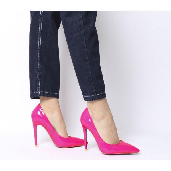 Ego Bronte Court Heels Neon Pink