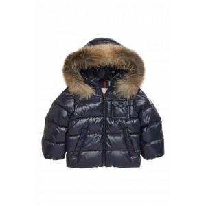 K2 Water Resistant Hooded Down Jacket with Genuine Fox Fur Trim