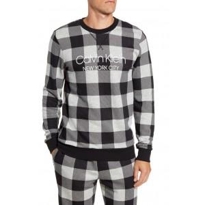 Cotton Blend Crewneck Pajama Shirt