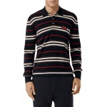 Rigby Stripe Long Sleeve Knit Polo