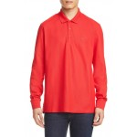 Eddie TB Monogram Long Sleeve Pique Polo