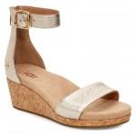 Zoe II Metallic Wedge Sandal