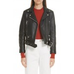 Mock Core Leather Moto Jacket
