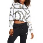 Sportswear Icon Clash Chain Print Crop Hoodie