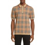 Westbrook Vintage Check Short Sleeve Merino Wool Polo