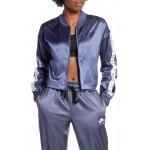 Sportswear Satin Crop Track Jacket