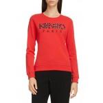 Logo Applique Cotton Sweatshirt