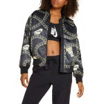 Sportswear Icon Clash Chain Print Synthetic Fill Jacket
