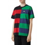 Carrick Embroidered Logo Rugby Stripe Tee
