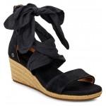 Trina Ribbon Tie Wedge Sandal