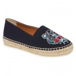 White Tiger Embroidered Espadrille