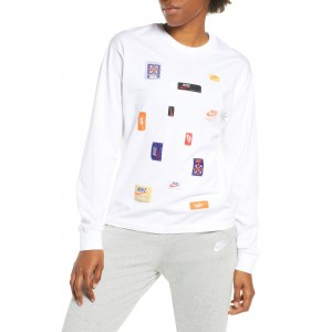 Logo Patch Long Sleeve Top