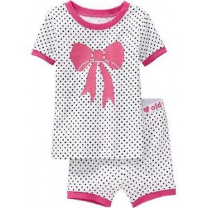 Polka-Dot PJ Short Sets for Toddler & Baby