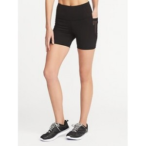 High-Rise Side-Pocket Compression Shorts for Women (5) 30% Off Taken at Checkout