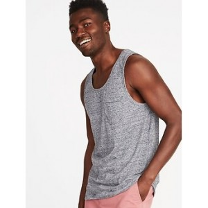 Soft-Washed Jersey Pocket Tank for Men