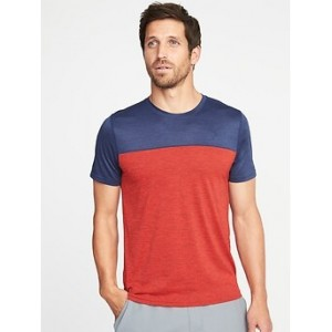 Go-Dry Color-Block Tee for Men 30% Off Taken at Checkout