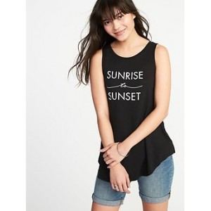 Graphic High-Neck Swing Tank for Women