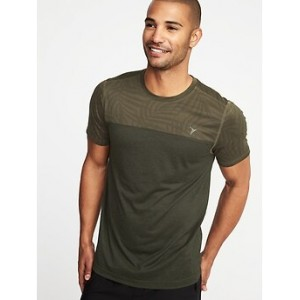 Go-Dry Print-Block Performance Tee for Men 30% Off Taken at Checkout