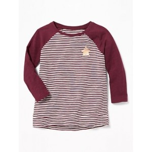 Raglan Hi-Lo Tunic for Toddler Girls