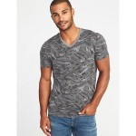 Soft-Washed Printed Perfect-Fit V-Neck Tee for Men Hot Deal