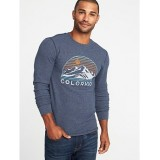 Soft-Washed Graphic Thermal Crew-Neck Tee for Men Savings Applied at Checkoutt