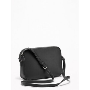 Faux-Leather Cross-Body Bag for Women