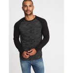 Soft-Washed Color-Blocked Raglan Tee for Men Savings Applied at Checkoutt