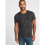 Soft-Washed Printed Crew-Neck Tee for Men Hot Deal