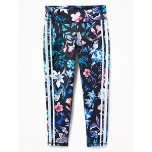 Go-Dry Floral Side-Stripe 7/8-Length Leggings for Girls 30% Off Taken at Checkout